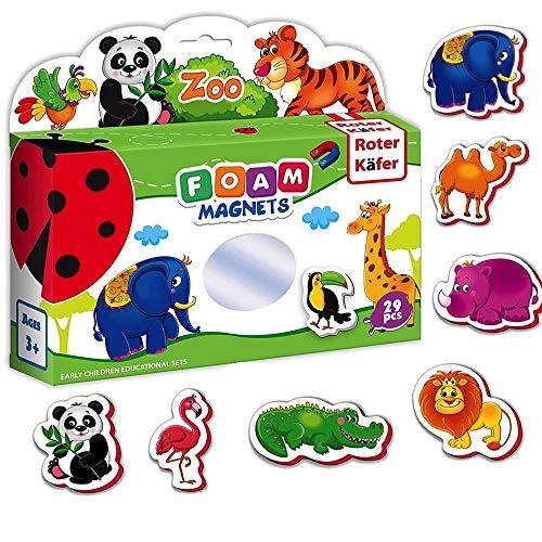 Kühlschrankmagnete, magnetspielzeug Kinder Zootiere figuren 29 Stück - Magnete für Kinder Tiere - Tiere spielzeug für Jungen und Mädchen - Kleinkind spielzeug 2 jahre - Spielzeug 2 jährige -