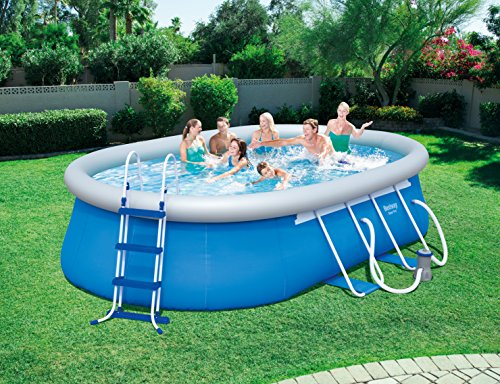 bestway oval swimming pool with filter pump and many accessoriesuk version outdoor furniture store. Black Bedroom Furniture Sets. Home Design Ideas