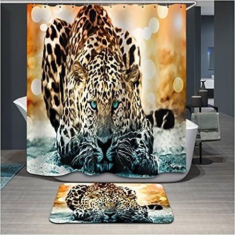 Custom Design Gesunde Leopard, Vorhänge Dusche, Breite x Höhe/182,9x 182,9cm/W H 180von 180cm, Polyester, Best für dekorative