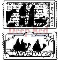 Deep Red Stamps-Portarotoli in 7,6 cm x 7,6 cm, con biglietti per il presepe