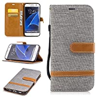 Cozy Hut Samsung S7 Edge Hülle,Galaxy S7 Edge Hülle Case, Cowboy Muster PU Leder Hülle Ledercase Ledertasche Flip case TPU Silikon Innere Handyhülle Folio Handytasche Wallet Lederhülle Standfunktio