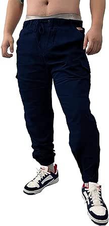 SOMTHRON Uomo Cintura Elastica in Cotone Lungo da Jogging Pantaloni Sportivi Taglie Forti Pantalone Sportivo da Lavoro con Pantaloncini Pantaloni da Jogging Pantaloni Activewear