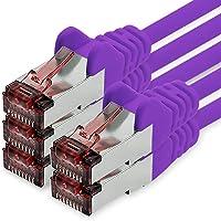 1CONN Cat6 Netzwerkkabel 0,25m violett - 5 x Patchkabel LAN Cat 6 LAN Netzwerk Kabel Sftp Pimf Lszh Kupfer 1000 Mbit s
