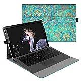Fintie Hülle für Microsoft Surface Pro 6 (2018) / Pro 5 (2017) / Pro 4 / Pro 3 - Multi-Sichtwinkel Hochwertige Tasche Schutzhülle aus Kunstleder, Type Cover kompatibel, Jade