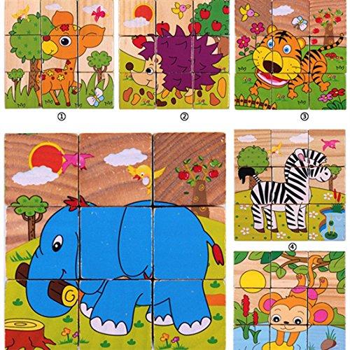 LDD-9 Stück von sechsseitigen Malerei Puzzle, 3D-Stereo-Bausteine von intellektuellen Spielzeug 3-6 Jahre alt , 2