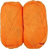 #5: M.G ENTERPRISE Rosemary Orange (200 gm) Wool Hank Hand knitting wool/Art Craft soft fingering crochet hook yarn, needle knitting yarn thread dyed