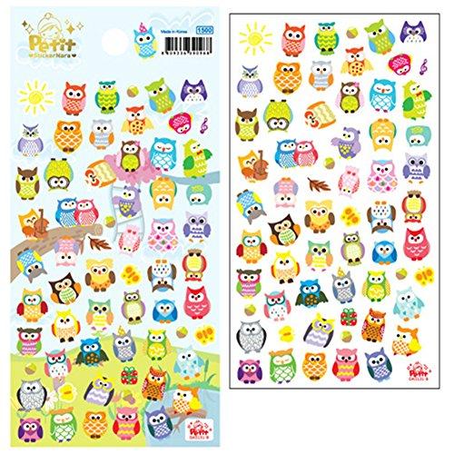 Tier Planer Tagebuch Sticker Kekse Scrapbook Kalender Dekor (Eule,Giraffe) (Eule Foto)
