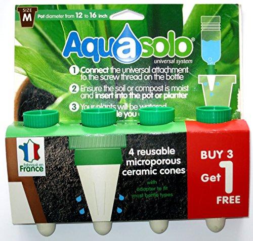 Aquasolo M126602 - Cono riego para maceta aquasolo pack 3+1