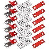 Kastmagneten Jiayi 6 Stuks Ultradunne Magnetische Deurvanger Lade-magneet Roestvrij Staal Magnetische Sluitingen Voor Schuifd