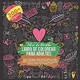 Libro de colorear para adultos Grande 200 páginas: Niños, Espiral, Deportes,...