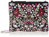 New Look Womens Emelia Cross-Body Bag Multicolour (Black Pattern)