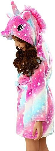 bdao gift WGDE Toy Unicorn Bathrobe Pyjamas 3D Hooded Design - Los Mejores Juguetes y Regalos de Unicornio