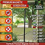 TheFitLife Magnetic Screen Door - Heavy Duty Mesh Curtain with Full Frame Hook and Loop and Powerful Magnets that Snap Shut Automatically (48''x83'' - Fits doors up to 46''x82'' Max)
