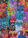 shukqueen DIY Ölgemälde, Erwachsene 's Malen nach Zahlen Kits, Acryl Gesicht Gemälde Cartoon Tier 40,6x 50,8cm, Animals, Frameless,Just Canvas