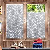 Lifetree 117 Fensterfolie Fensterladen Sichtschutzfolie Statische Folie 45 * 200cm für Schlafzimmer Badezimmer Wohnzimmer Büro Zimmer