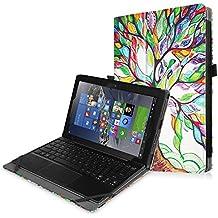 """Fintie Lenovo MIIX 310 10.1-Inch Funda Case - Ultra Slim Folio PU Cuero Carcasa Caso con Stand Función Para Lenovo MIIX 310 10.1"""" Windows Laptop / Tablet (Teclado no incluido), Love Tree"""
