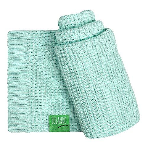 LULANDO Bambusdecke 80x100 cm, kleine Bettdecke, Zudecke für Kinderwagen, für jede Jahreszeit, 100 % naturreine Materialien, aus Baumwolle und Bambus, antiallergisch, umweltfreundlich(Mint) (Bambus-bettdecke)