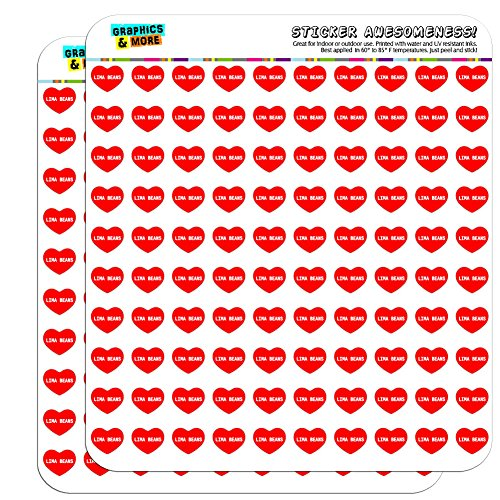 13cm-05-scrapbooking-crafting-stickers-i-love-heart-food-h-l-lima-beans