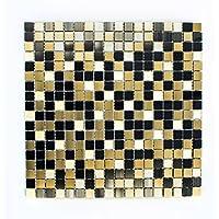 azulejos mosaico mosaico azulejos aluminio cristal mate oro Mix Cocina Baño Inodoro 8mm) # 771