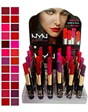 NYN Matte Waterproof Lipsticks (Pack of 24) by SNG
