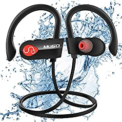 Auriculares Bluetooth, Auriculares Inalámbricos ipx7 Impermeable, Auriculares Deportivos Bluetooth con Micrófono y Manos Libres, HiFi Estéreo y Batería de 10 Horas, para Correr Workout Fitness