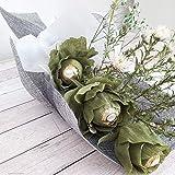Personalisierter Blumenstrauß Pralinenstrauß Blumen Rosen Bouquet aus Krepppapier mit Pralinen Schokolade Liebe Geschenk Wunschtext Handarbeit binnbonn
