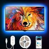 Govee TV LED Backlight with App Control, RGB LED Strip Light, USB Powered, Adjustable Lighting Kit for 40-60in TV…