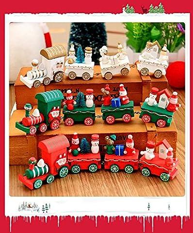 Xizi Mini Weihnachten Santa Zug Baum Dekor Kinder Spielzeug Geschenk für Weihnachten Festival (Weihnachten Sankt Bären)