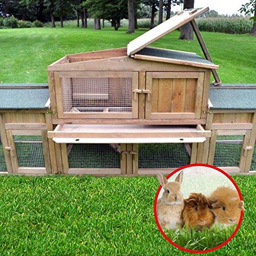 """ZooPrimus Kleintier-Stall Nr 2 XXL Kaninchen-Käfig """"DR. HASE"""" Meerschweinchen-Haus für Außenbereich (Geeignet für Kleintiere: Hasen, Kaninchen, Meerschweinchen usw.) - 3"""