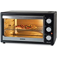 Borosil PRO 42 L OTG, with Motorised Rotisserie and Convection, 2000W, 6 Stage Heat Selection, Black