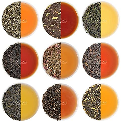 Best Selling Tea Sampler - 10 Teas - Individually Packaged, Loose Leaf Teas (3-5 Cups Each), Garden Fresh Teas, Grown, Packaged & Shipped Direct from Source, Perfect Tea Gift