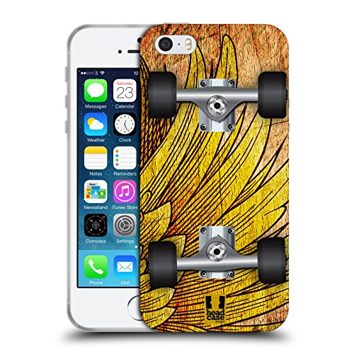 Head Case Designs Spritzer Skateboards Soft Gel Hülle für Apple iPhone 5 / 5s / SE Flug