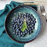Vintage Ink Green Ceramic Bowl Große Kapazität Obstteller Salatplatte Kreative Unterglasur Farbe Startseite Ramen Schüssel Geschirr