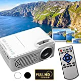 Jiayuan Blanc + UE Plug G814 Mini LED Vidéo Projecteur, 6000 Lumens Multimédia Home Cinéma Vidéo Projecteur Soutien 1080 P HDMI USB SD Carte VGA AV Home Cinema TV Portable Jeu iPhone Android Smartp