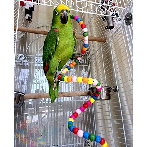 Calli Papageienkäfig Spielzeug Stehen Rope Parrot Halter Rotation Ladder Stehen Treppe