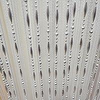 Gosear Drop Beaded Quaste String Vorhang Tür Fenster Startseite Decor  Divider 1 X 2 M Grau