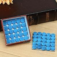 Tofree - Puntas para Tacos de Billar DE 13 mm, dureza en M, 50 Unidades, Color Azul