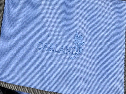 Oakland, Borsa a spalla uomo large, Nero (nero), Large Blu