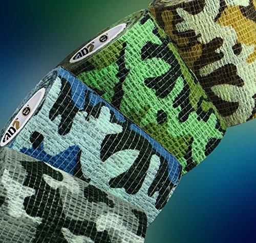 Wrapz Verband/Camo Design selbsthaftende Bandage Haftbandage 7,5cm x 5m. Pack x 4 7.5 Camo