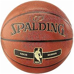 SPALDING - NBA GOLD IN/OUT SZ.7 (76-014Z) - Ballons de basket NBA - Touché et Contrôle améliorés - Matière Durable - orange