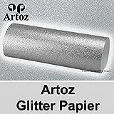 5x Artoz Glitter Papier DIN A4 // silber // glitzerndes Papier - Bastelpapier - Scrapbooking
