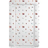 Deluxe Unisex Baby Waterproof Changing Mat with Raised Edges - Unique Beautiful Woodland Animals Design