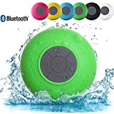 SB510 HD Water Resistant Bluetooth 3.0 Shower Speaker, Handsfree Portable Speakerphone With Built-in Mic, 6hrs Of Playtime, Control Buttons And Dedicated Suction Cup For Showers, Bathroom, Pool, Boat, Car, Beach, & Outdoor Use-Assorted Colors