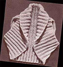 Hug Me Tight Bolero Shrug Knit Vintage Knitting Pattern ...
