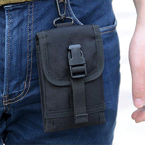 wewod Outdoor tattico marsupio/Molle Borsa to Hold iPhone 6S, Dschungeltarnung nero