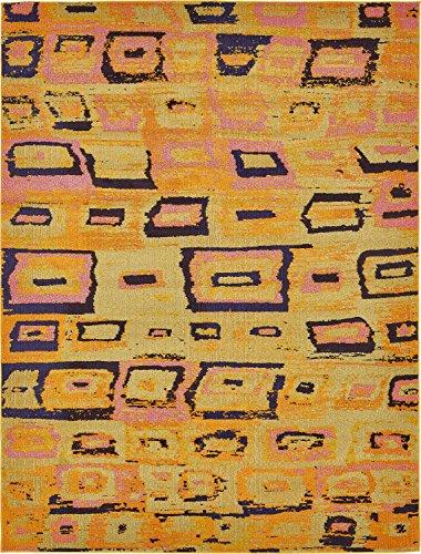 Sedona Abstrakt Modern modernes Bereich Teppich, gelb, 8 x 10