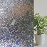 Bfeplfahion Cobblestone Shaped Glass Sticker Bathroom Door Window Static Film Home Decor - 1#
