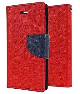Unique Design Mercury Flip Cover For Asus Zenfone 2-Red