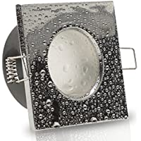 Badezimmer Einbaustrahler Aqua IP65 GU10 Fassung HV 230V Schutzglas Bad Spot