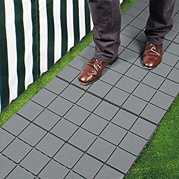 Exceptionnel Pack Of 12 Grey Patio Pavers